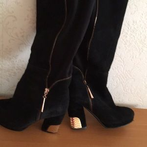 Platform over the knee suede boots,size 71/2.